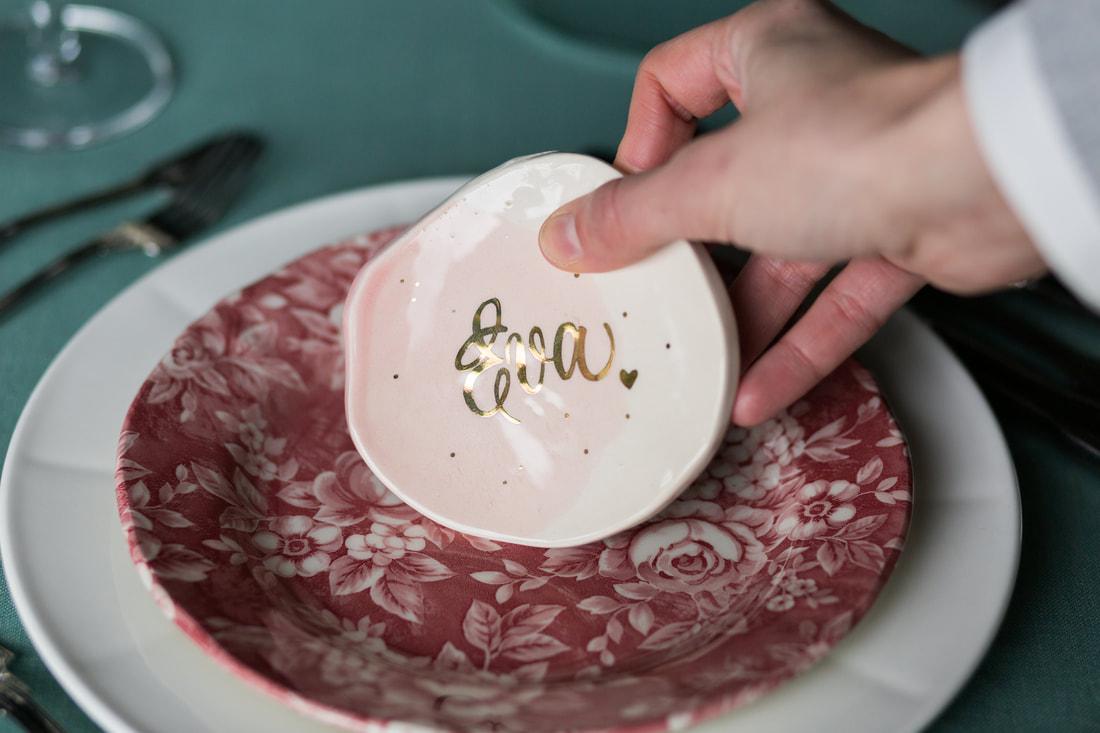 Place card porcelana